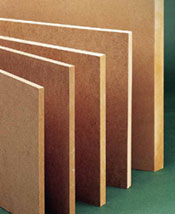 Medium density fiberboard comes in a range of thicknesses.